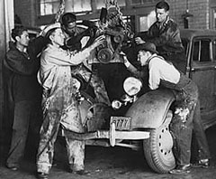 1930s Auto Mechanics, National Youth Administration, Franklin D. Roosevelt Library